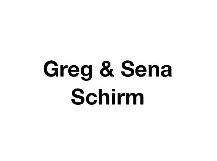 Greg and Sena Schirm
