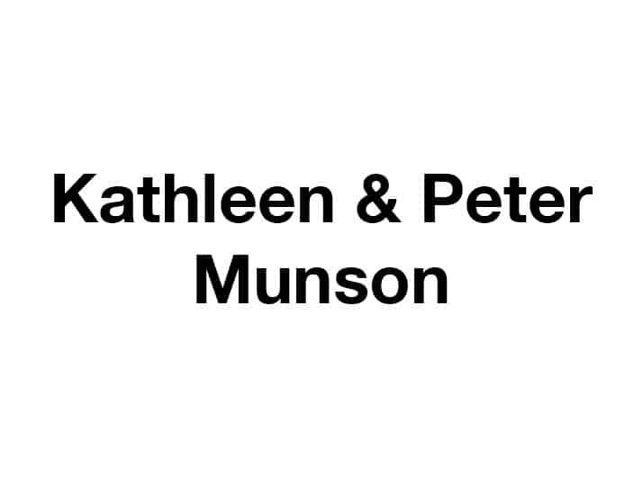 Kathleen and Peter Munson